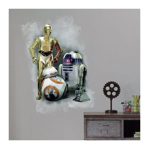 RoomMates Wandsticker Star Wars Das Erwachen der Macht, R2D2 und C3PO