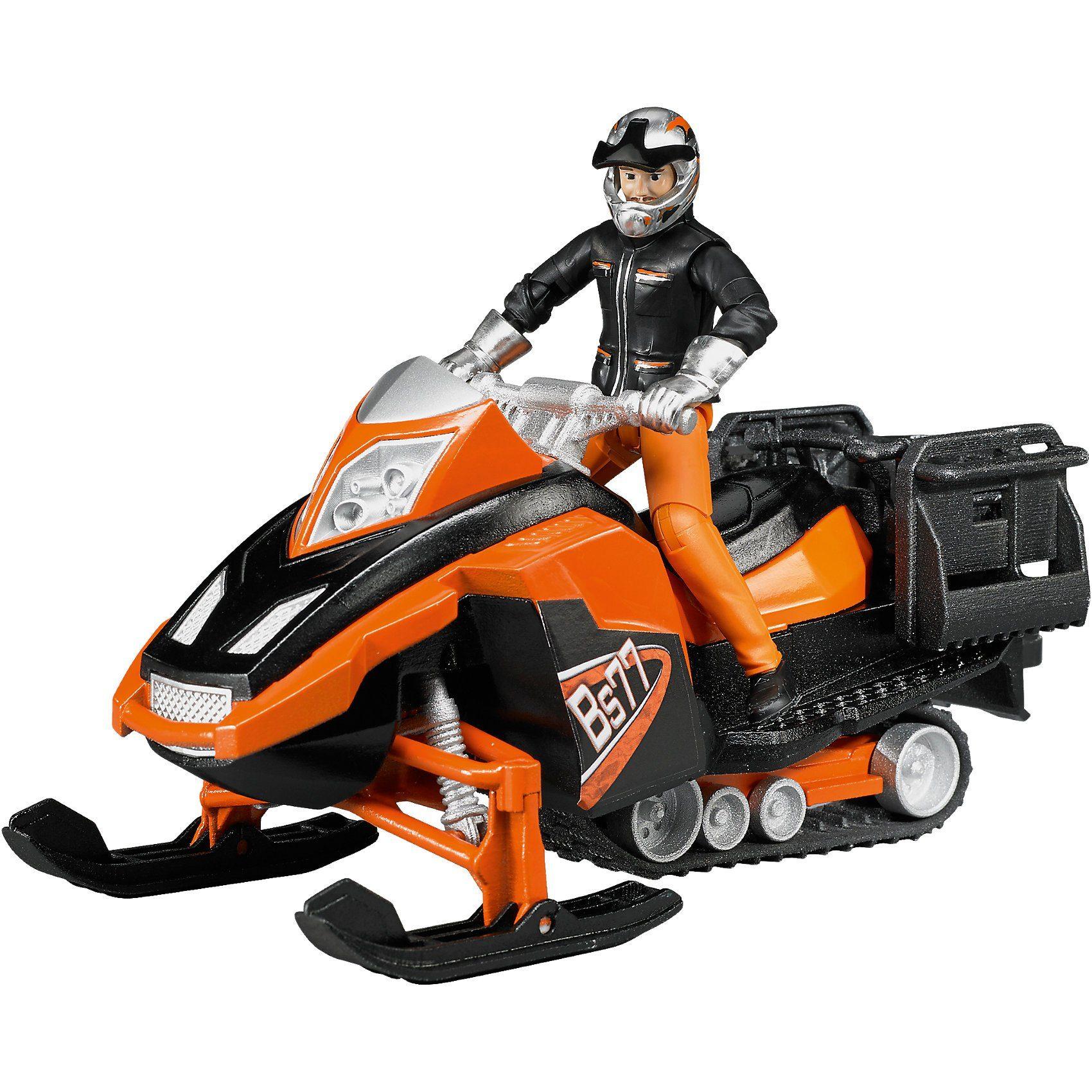 63101 bworld Snowmobil mit Fahrer und Ausstattung
