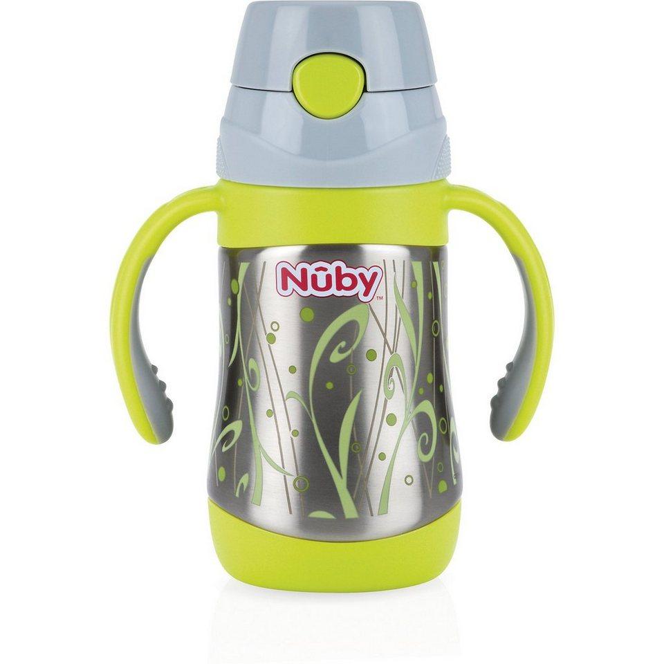 Nuby Thermo Trinkhalmflasche Clik-It, Edelstahl, 280 ml in grün