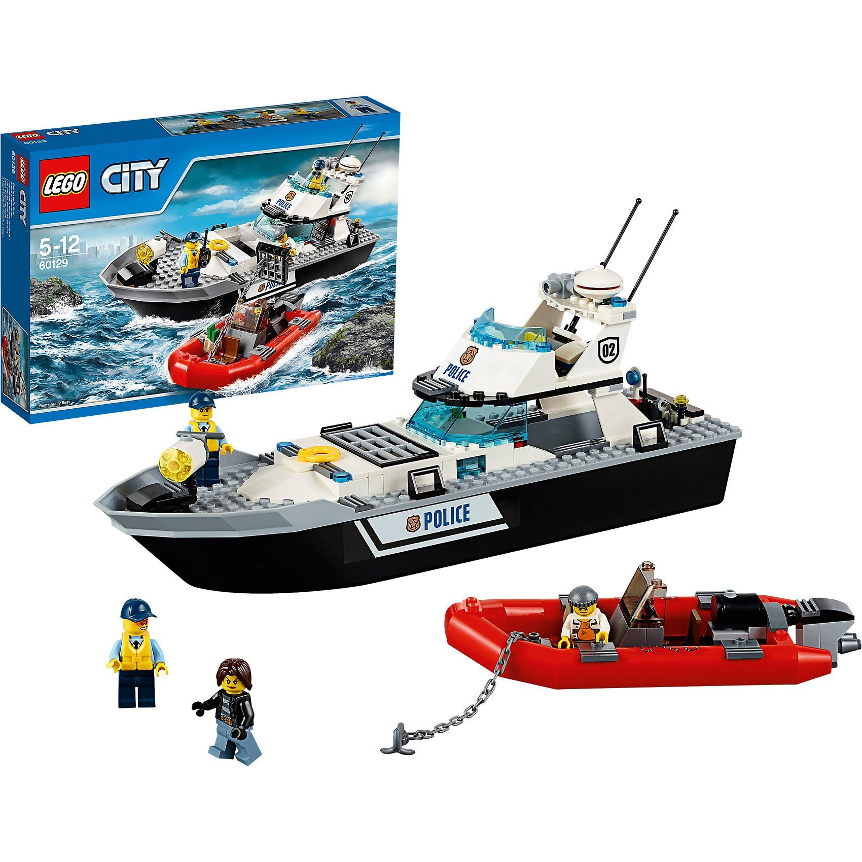 Lego® 60129 City Polizei-Patrouillen-Boot