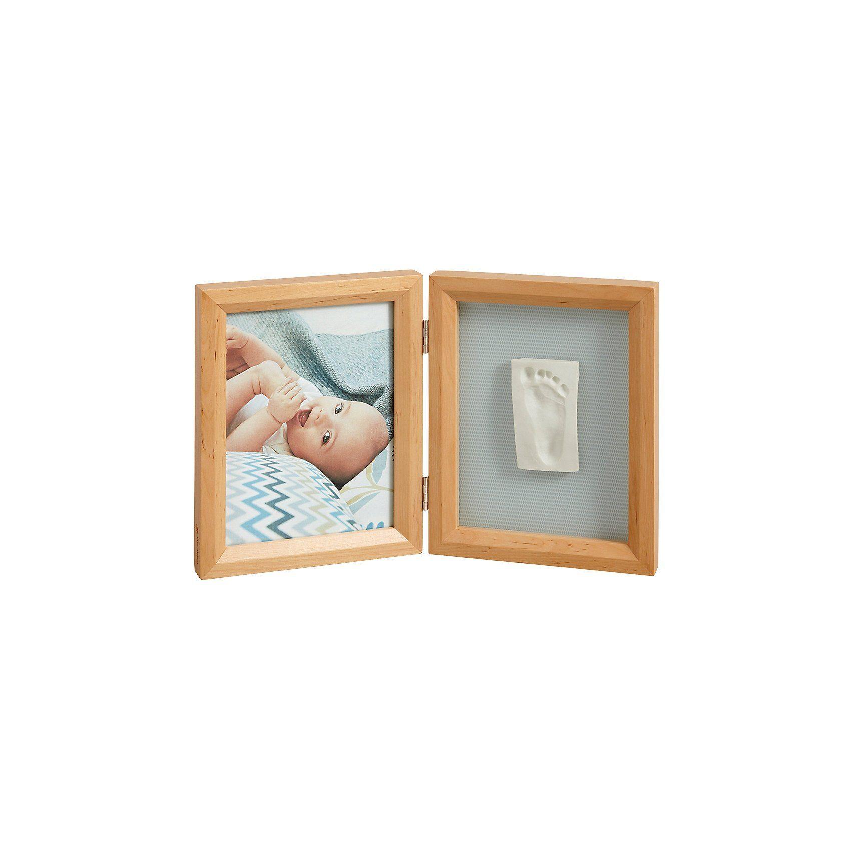 Baby Art Gipsabdruck Set mit 2-tlg. Bilderrahmen, honey