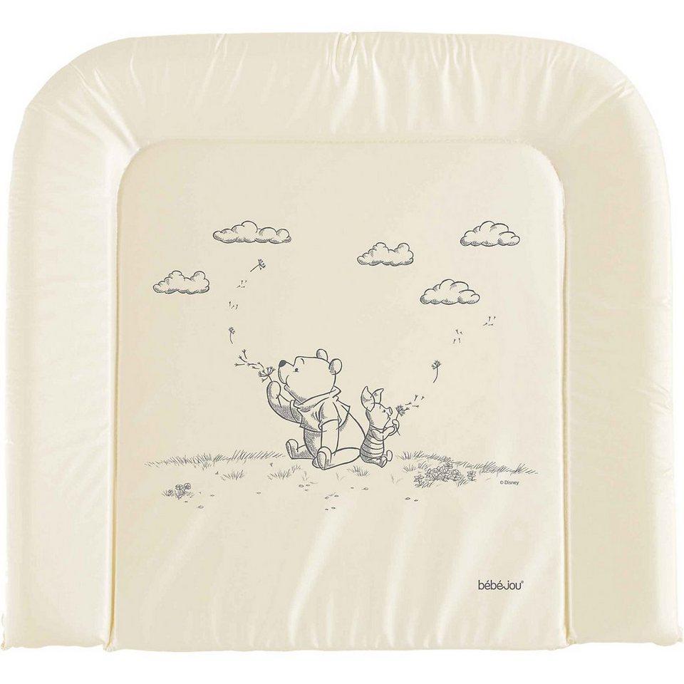 bébé-jou Wickelauflage Wishing Pooh, perlmut, 75 x 80 cm in beige