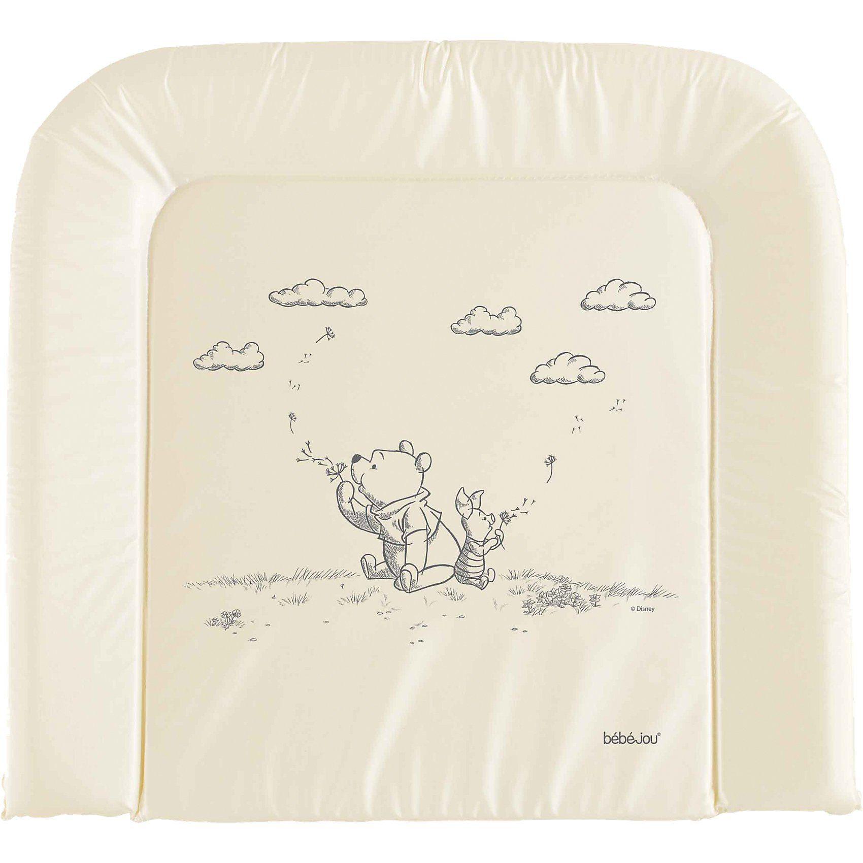 bébé-jou Wickelauflage Wishing Pooh, perlmut, 75 x 80 cm