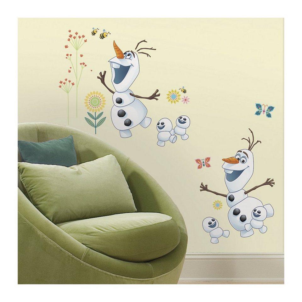 RoomMates Wandsticker Disney Die Eiskönigin, Olaf, 26-tlg. in weiß