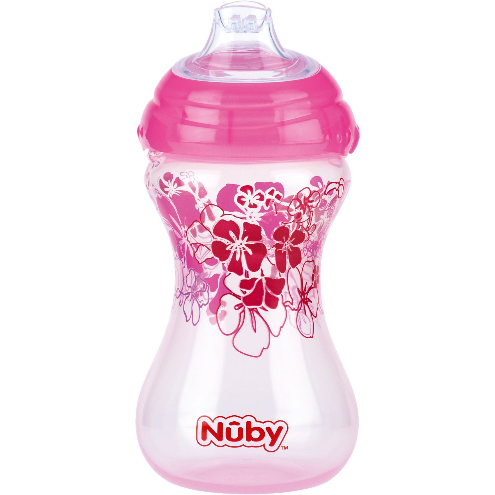 Nuby Trinkbecher Clik-It, 300 ml, pink