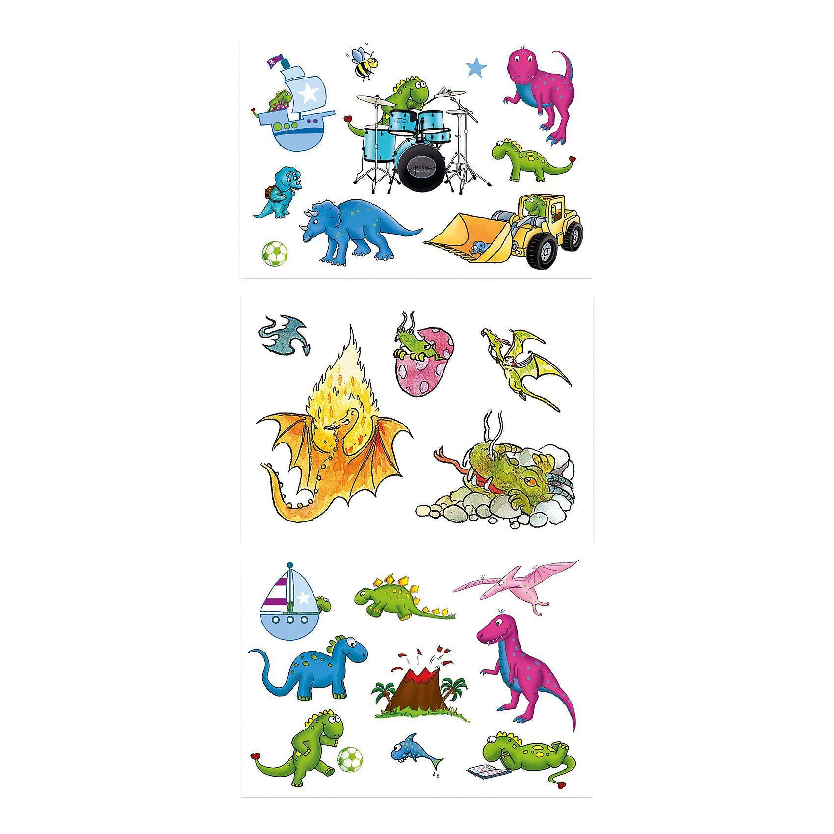 Grätz Verlag Tattooset Dinos & Drachen, 3-tlg.