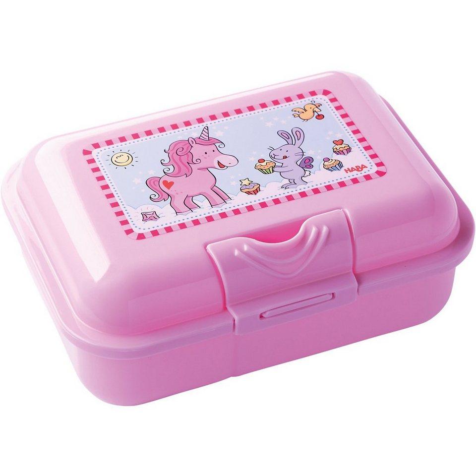 Haba Brotdose Einhorn Glitzerglück in pink