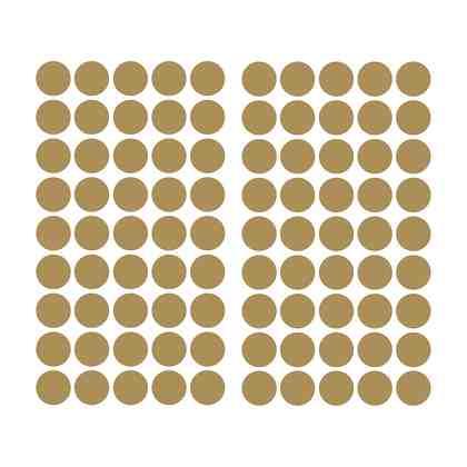 RoomMates Wandsticker goldfarbiges Konfetti, 90-tlg.