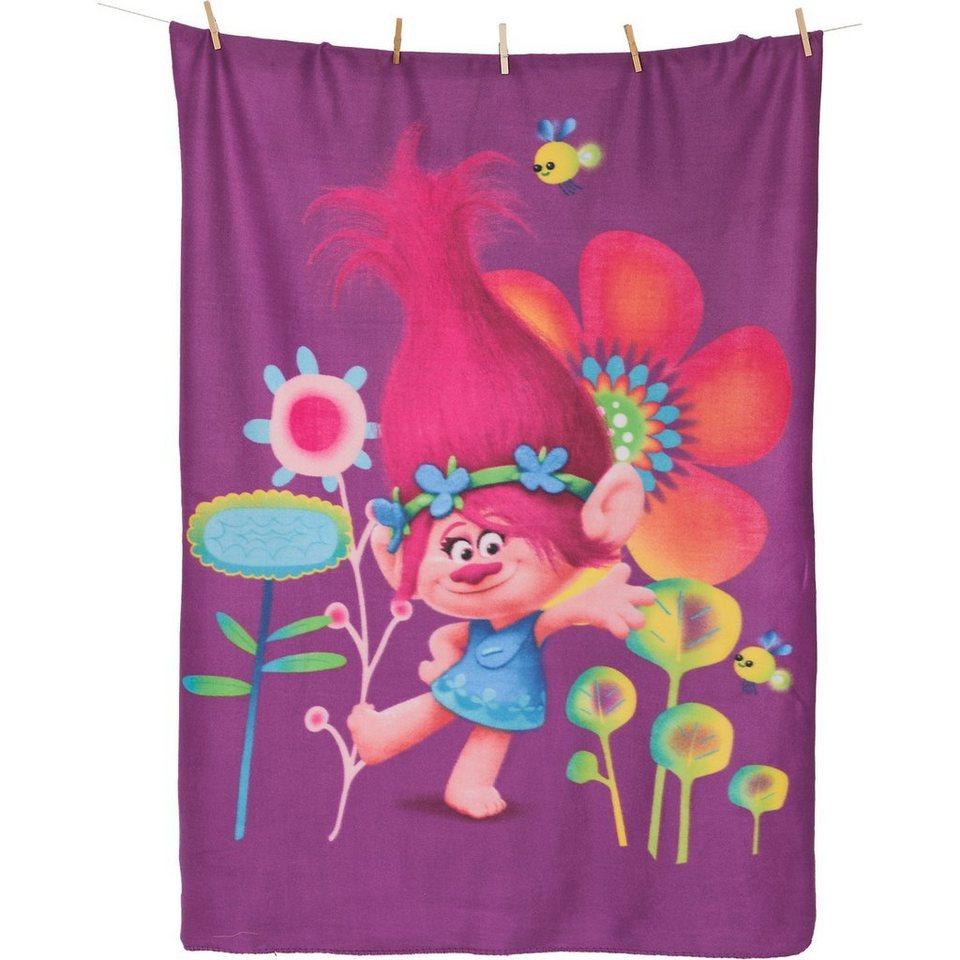CTI Kuscheldecke Trolls Poppy, 110 x 140 cm in pink