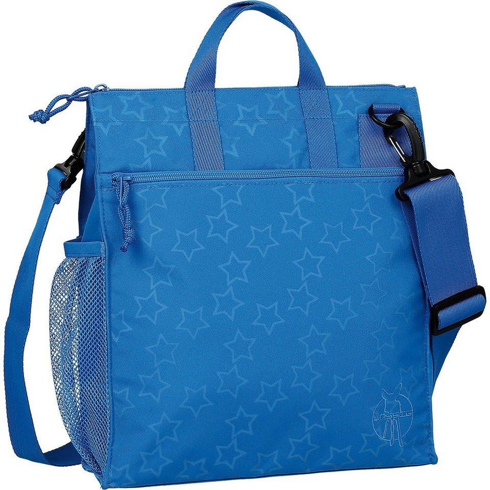 Lässig Wickeltasche Casual, Buggy Bag, Reflective Star, blue in blau