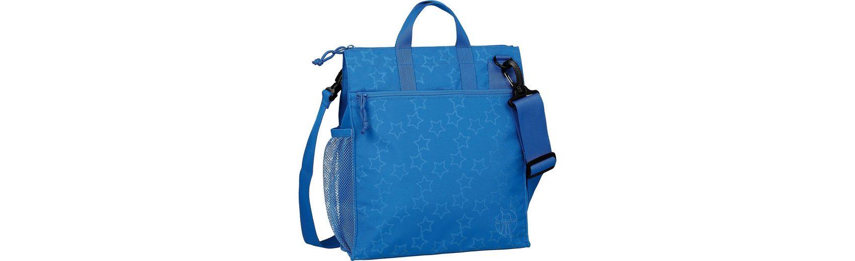 Lässig Wickeltasche Casual, Buggy Bag, Reflective Star, blue