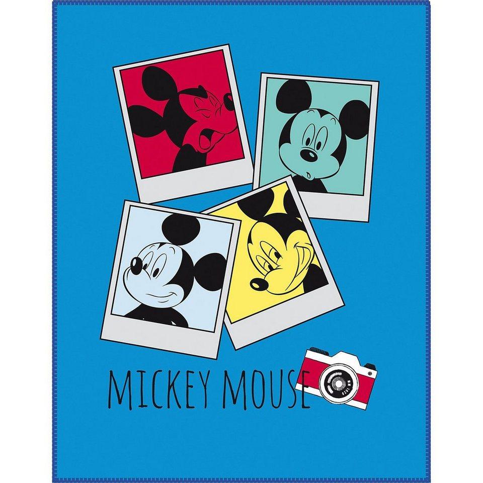 CTI Kuscheldecke Mickey Mouse, 110 x 140 cm in blau