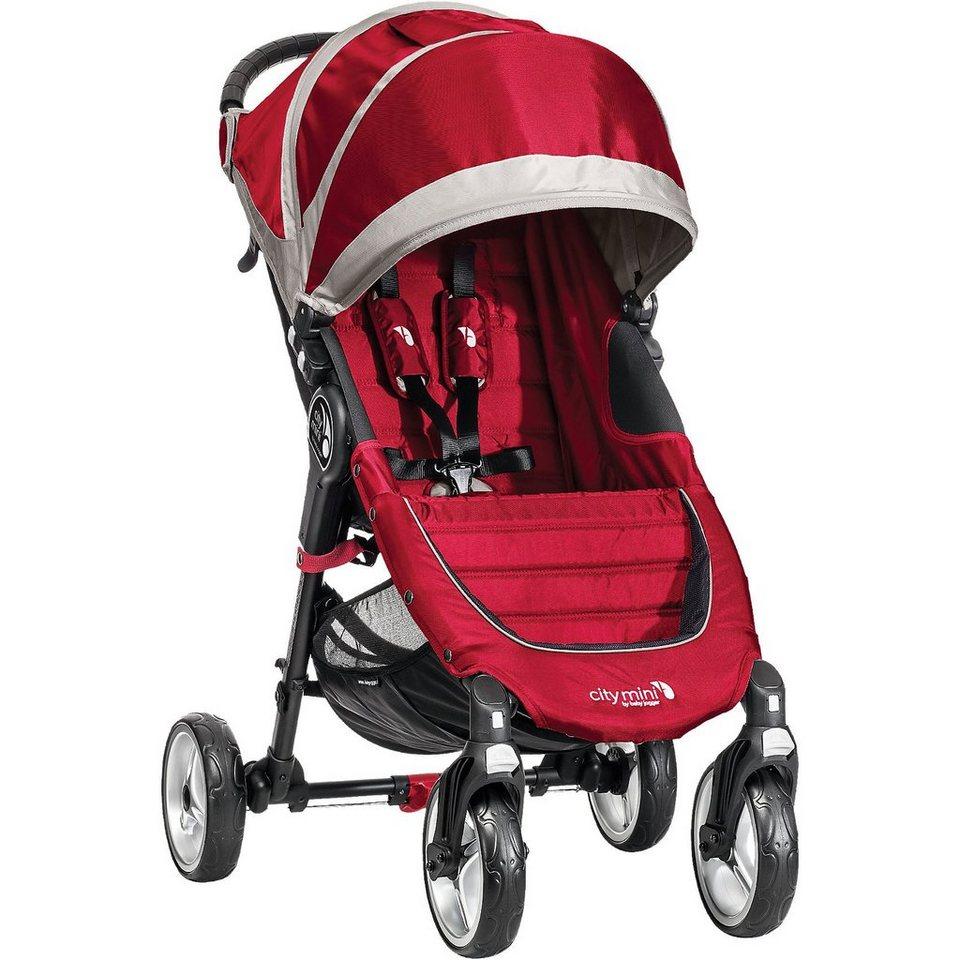 Baby Jogger Sportwagen City Mini 4-Rad, crimson/ gray, 2016 in rot/grau