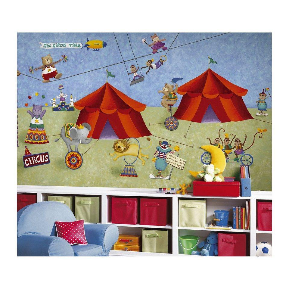 RoomMates Fototapete Zirkus, 320 x 183 cm in mehrfarbig