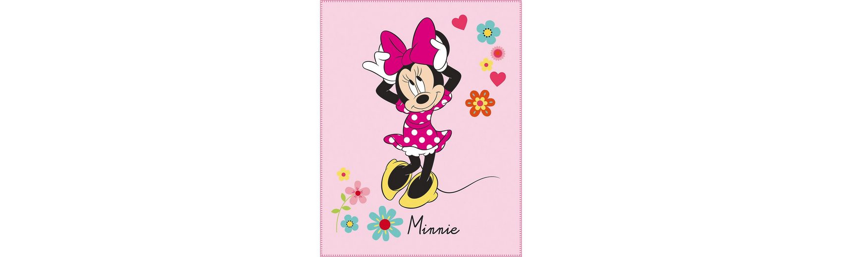 CTI Kuscheldecke Minnie Mouse, Liberty, 110 x 140 cm