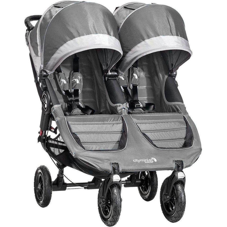 Baby Jogger Zwillings- und Geschwisterwagen City Mini GT Double, steel/ in stahl