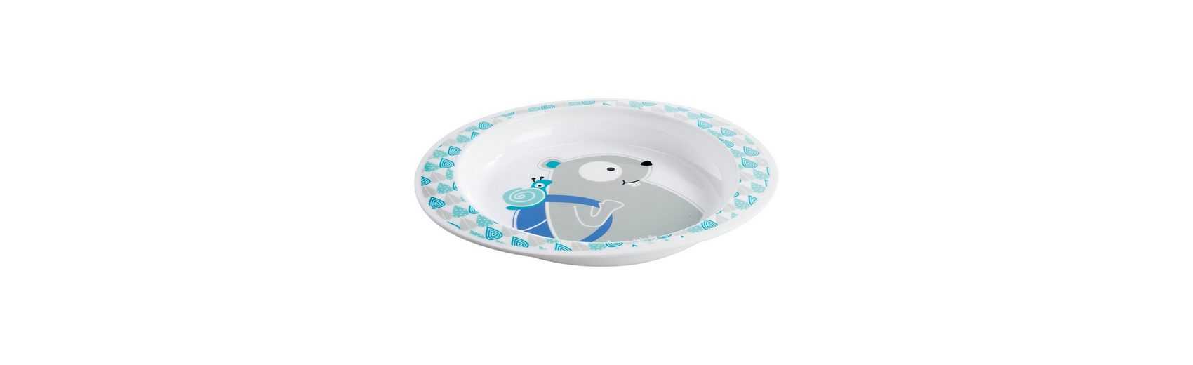 badabulle Teller für Mikrowelle, blau