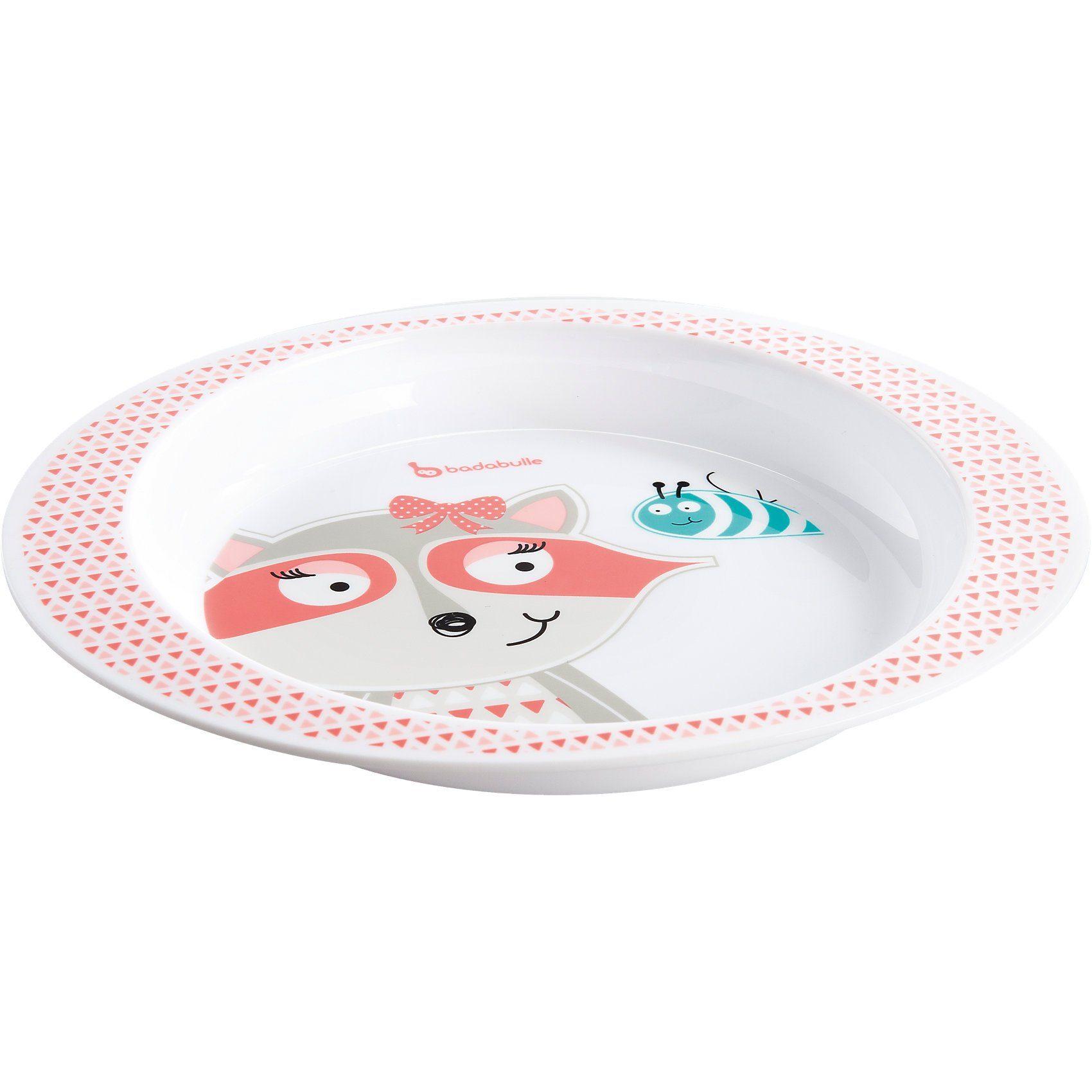 badabulle Teller für Mikrowelle, rosa