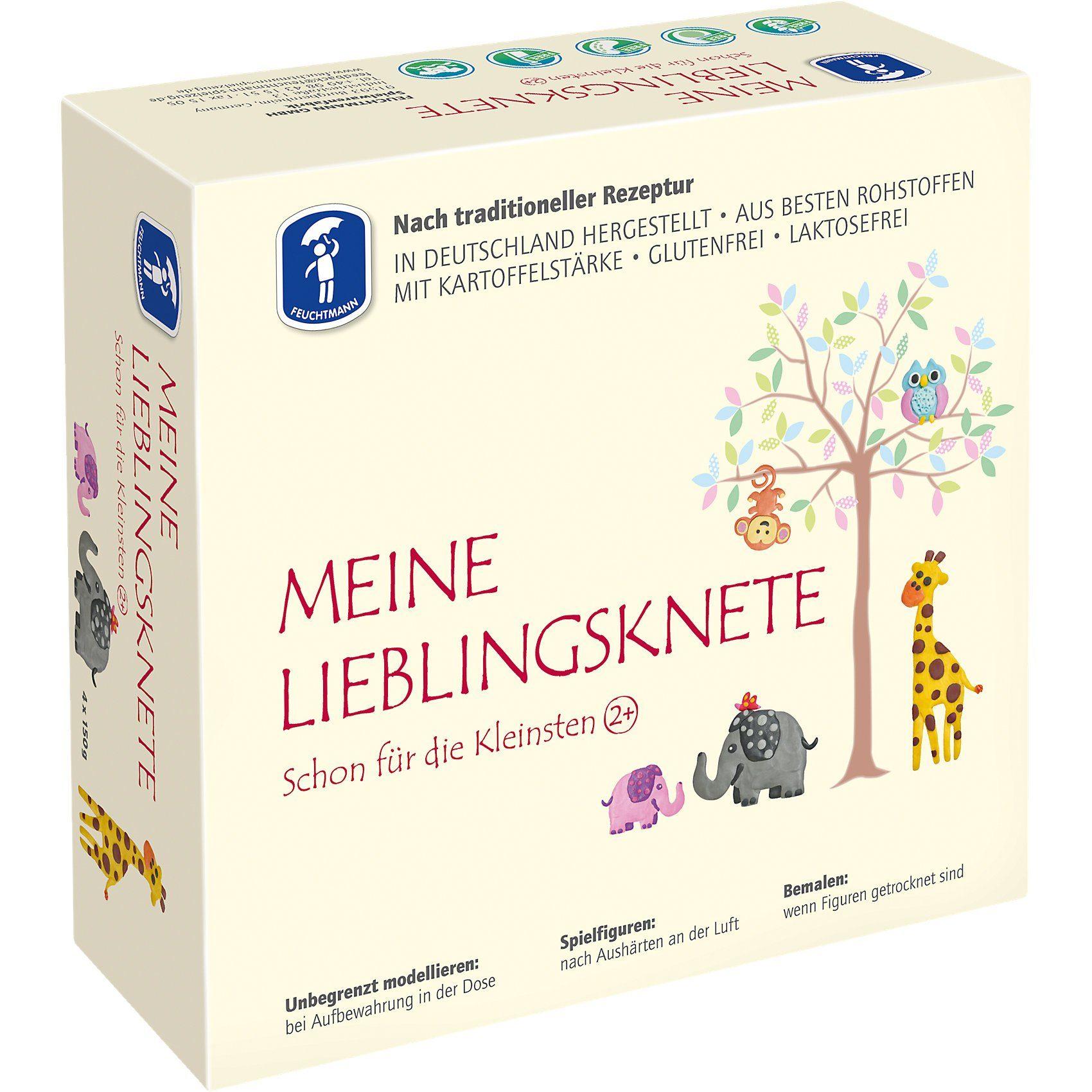 Feuchtmann Meine Lieblingsknete Soft Knete, 4 x 150 g