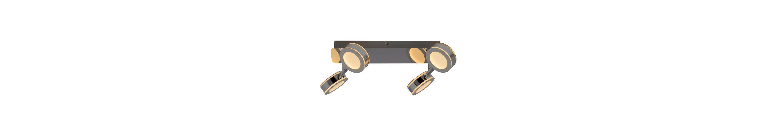 Brilliant Leuchten Movable LED Deckenleuchte, 4-flammig chrom