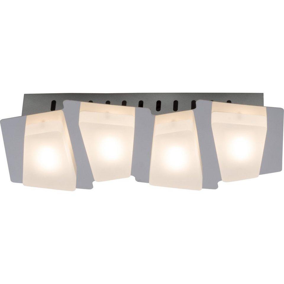 Brilliant Leuchten Block LED Wandleuchte, 4-flammig chrom/weiß in chrom/weiß
