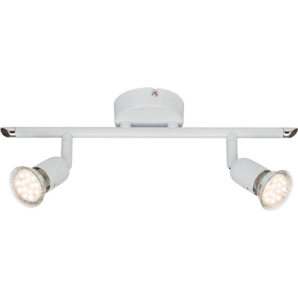 Brilliant Leuchten Loona LED Spotrohr, 2-flammig weiß in weiß
