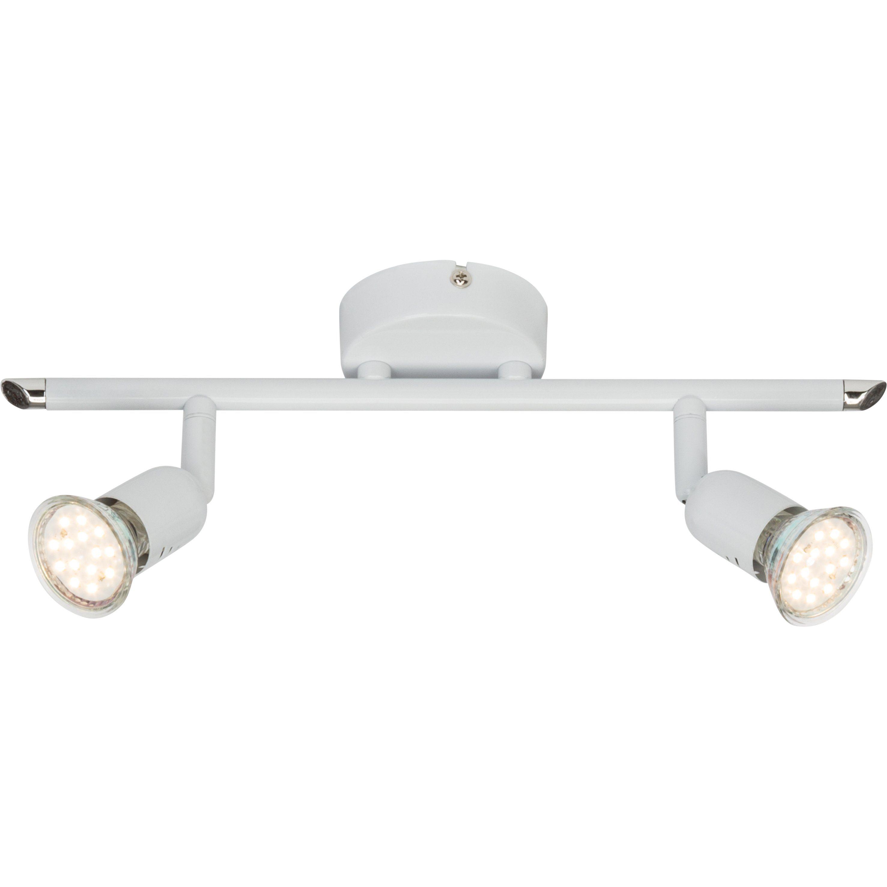 Brilliant Leuchten Loona LED Spotrohr, 2-flammig weiß