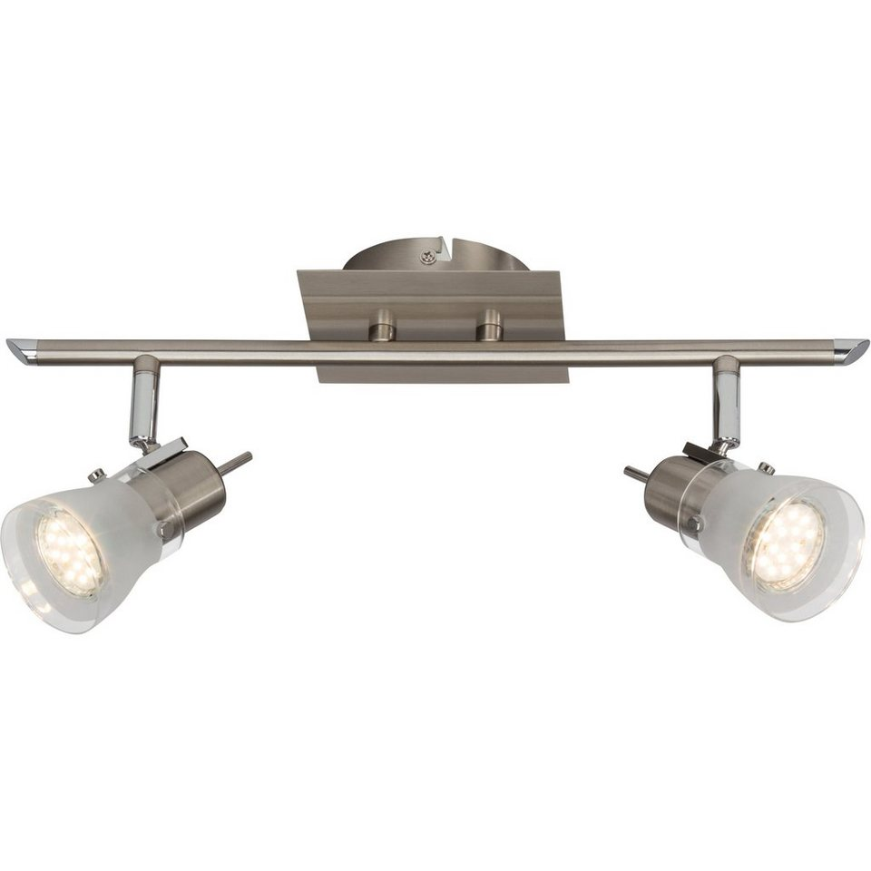Brilliant Leuchten Lipari LED Spotrohr, 2-flammig eisen in eisen