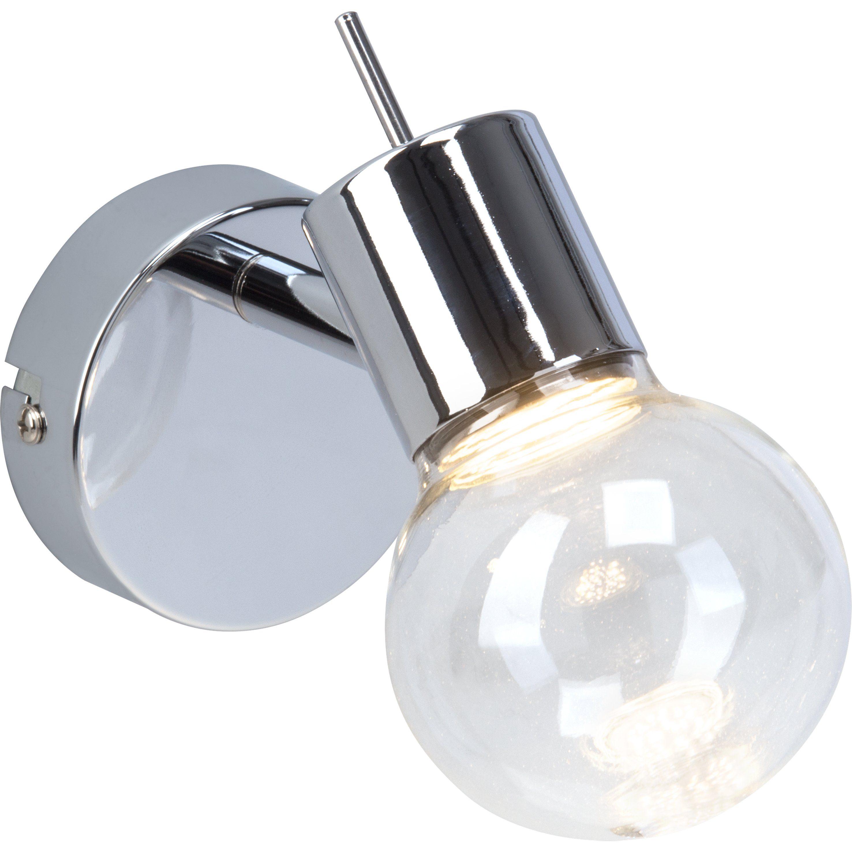 Brilliant Leuchten Celest LED Wandspot chrom/transparent