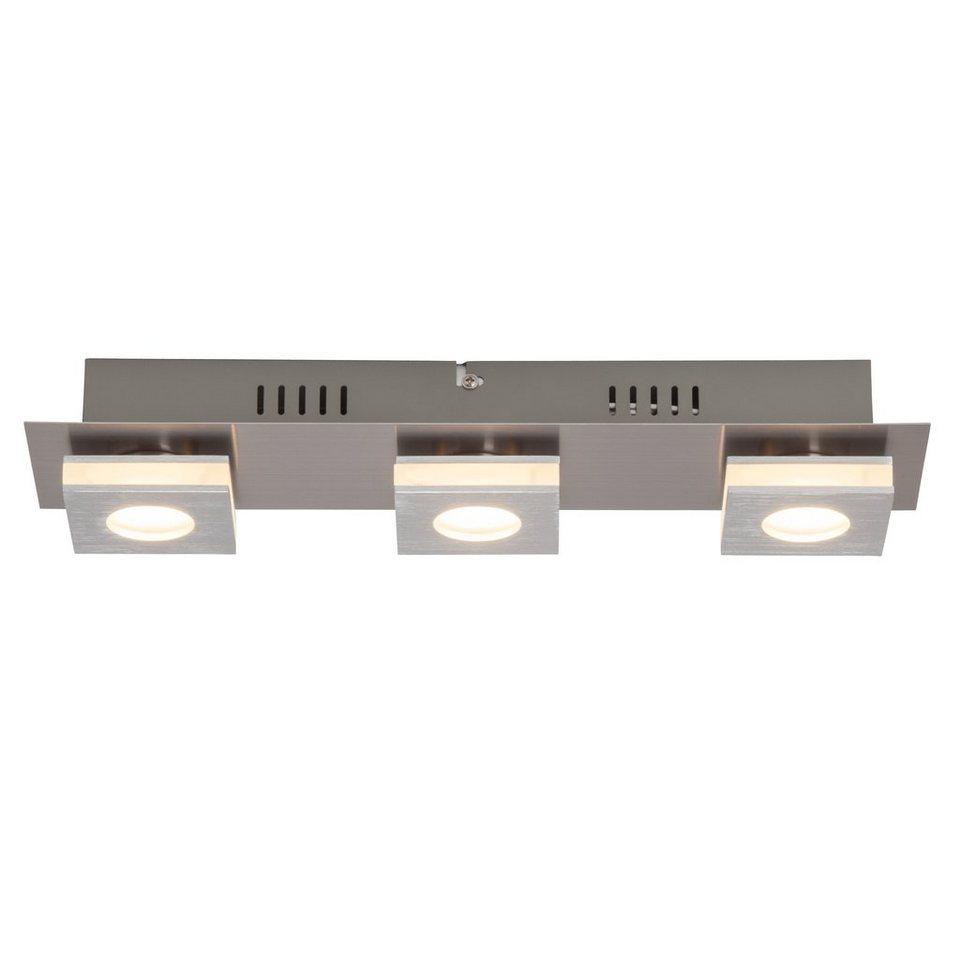 Brilliant Leuchten Transit LED Wand- und Deckenleuchte, 3-flammig nickel/alu in nickel/alu