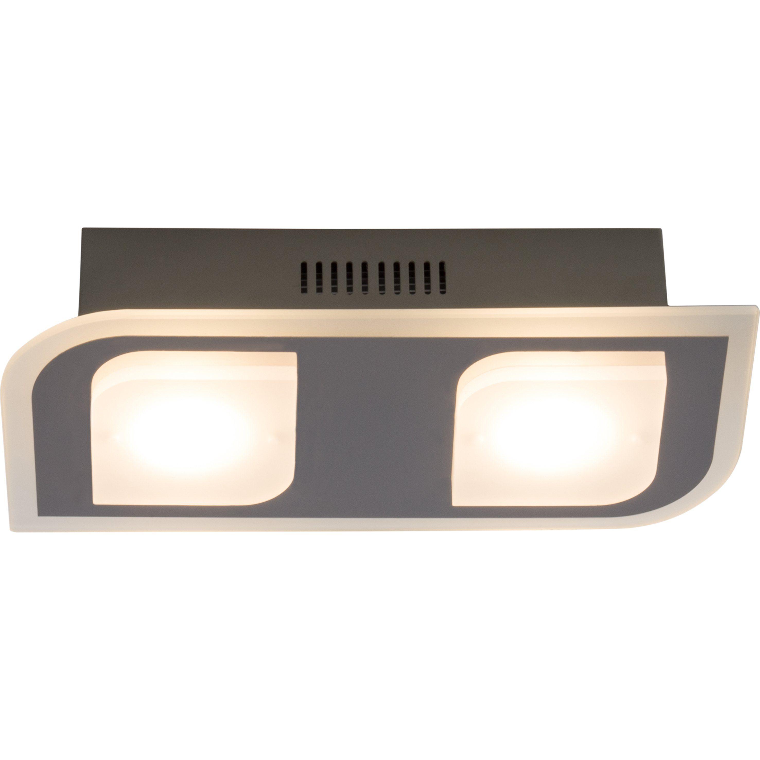 Brilliant Leuchten Formular LED Deckenleuchte, 2-flammig chrom IP44