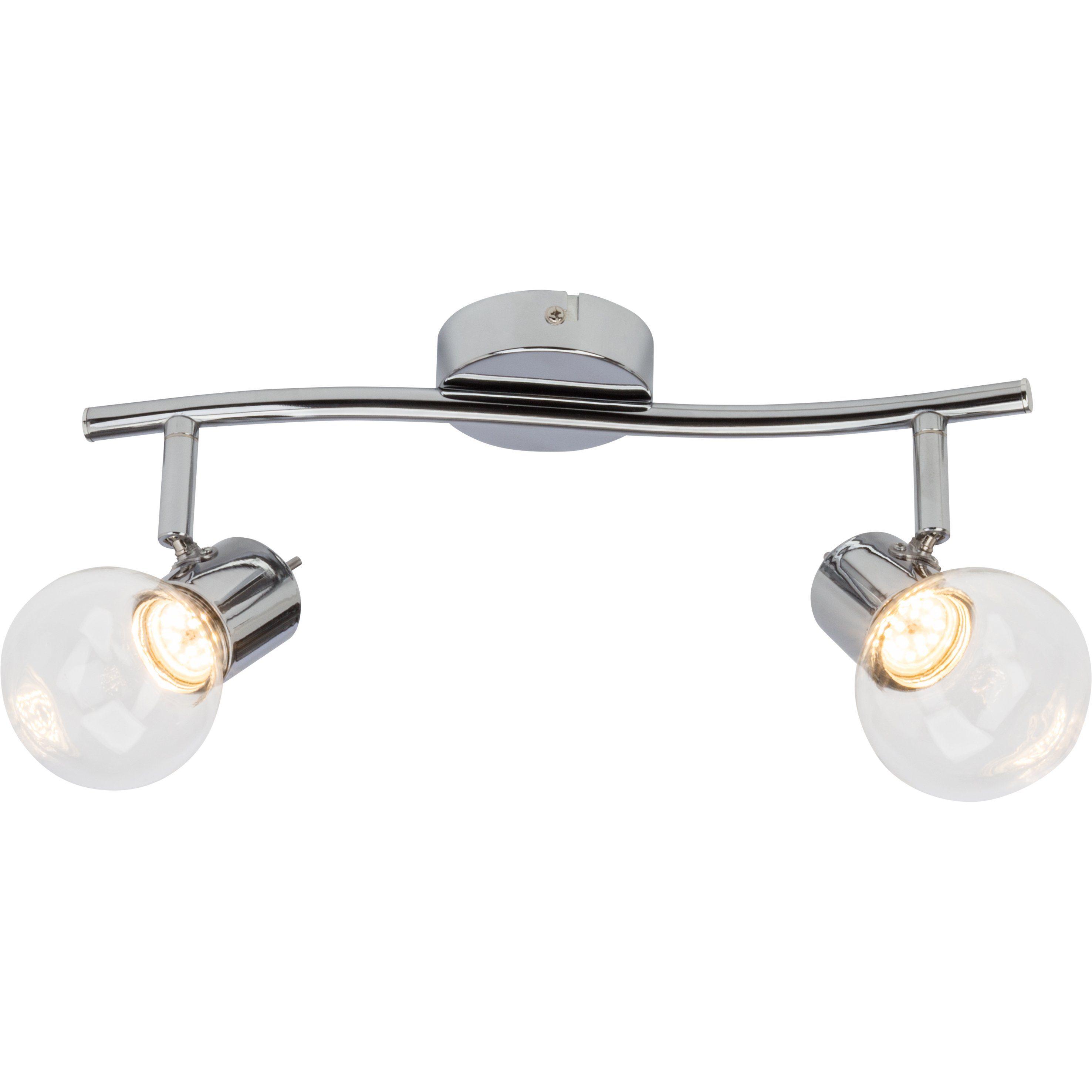 Brilliant Leuchten Celest LED Spotrohr, 2-flammig chrom/transparent
