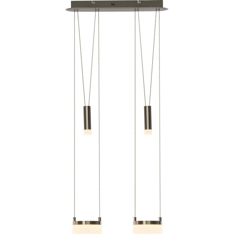 Brilliant Leuchten Better LED Pendelleuchte, 2-flammig, höhenverstellbar eisen/weiß in eisen/weiß
