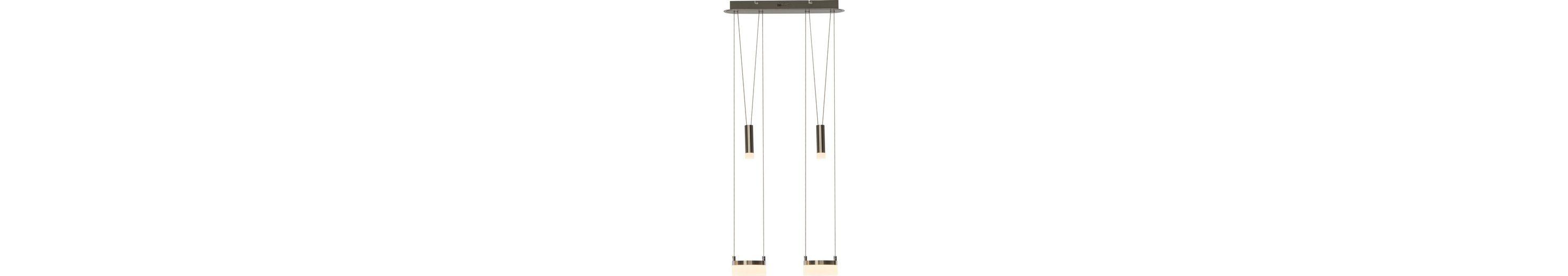 Brilliant Leuchten Better LED Pendelleuchte, 2-flammig, höhenverstellbar eisen/weiß