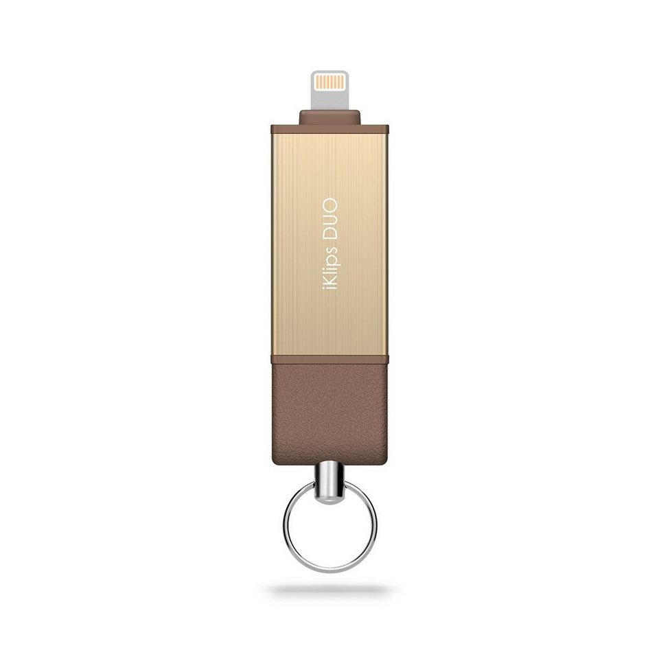 Adam Elements Lightning/USB-Stick 128 GB in braun