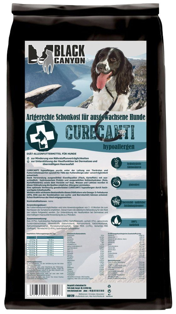 Hundetrockenfutter »Curecanti Hypoallergen Fisch & Reis«, 1,2 kg
