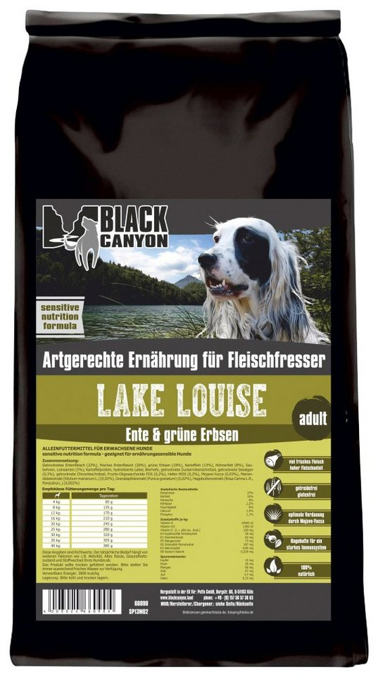 Hundetrockenfutter »Lake Louise Ente & grüne Erbsen«, 15 kg in braun