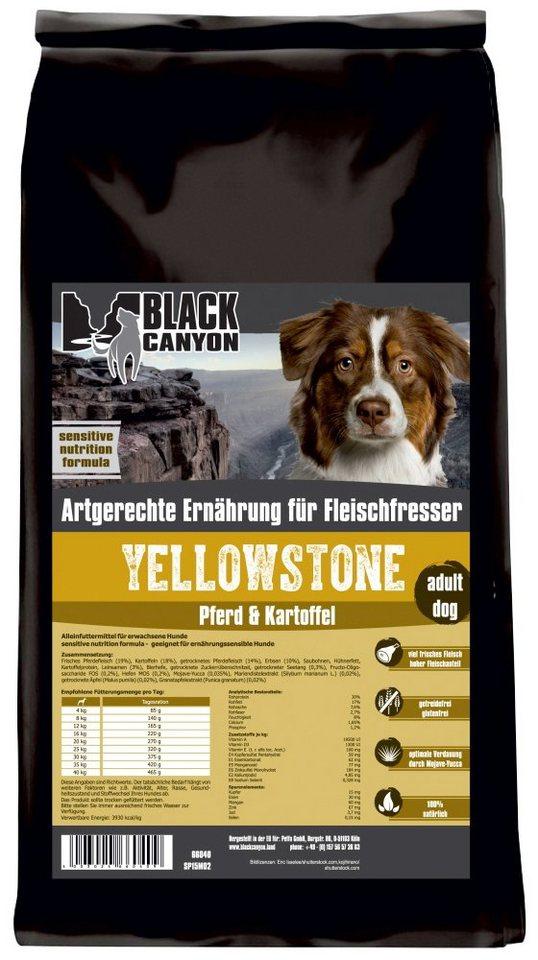 Hundetrockenfutter »Yellowstone Pferd & Kartoffel«, 5 kg in braun