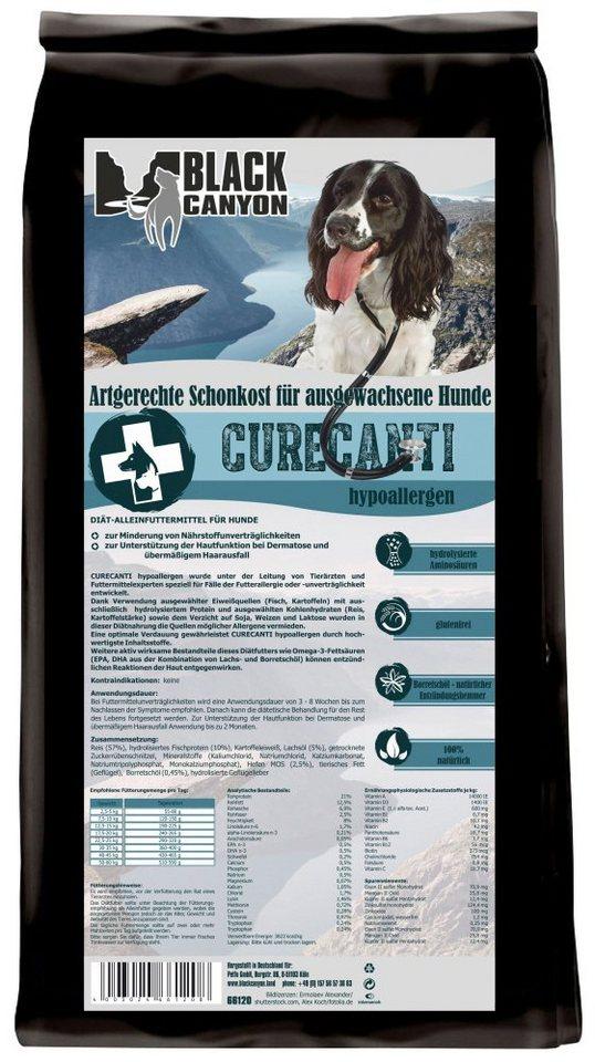 Hundetrockenfutter »Curecanti Hypoallergen Fisch & Reis«, 12 kg in braun