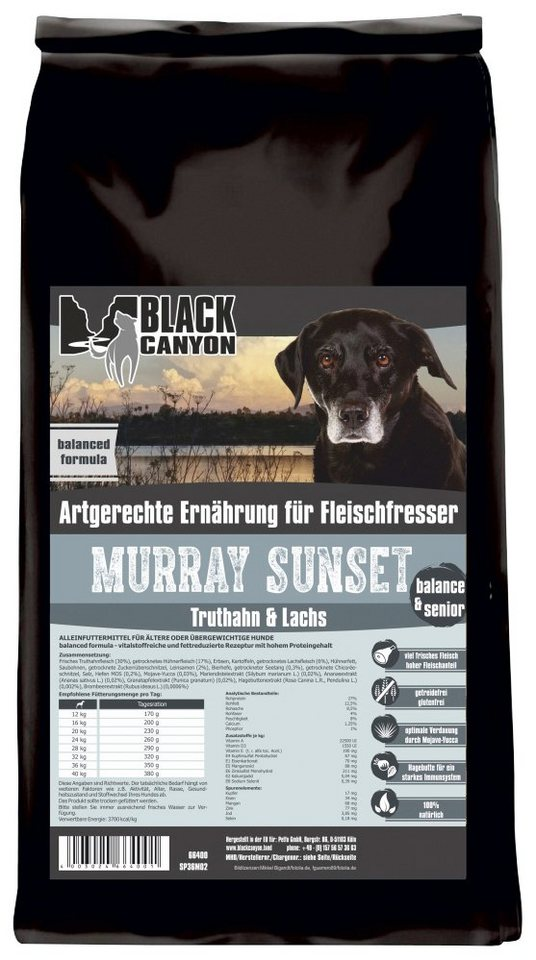 Hundetrockenfutter »Murray Sunset Truthahn & Lachs«, 5 kg in braun
