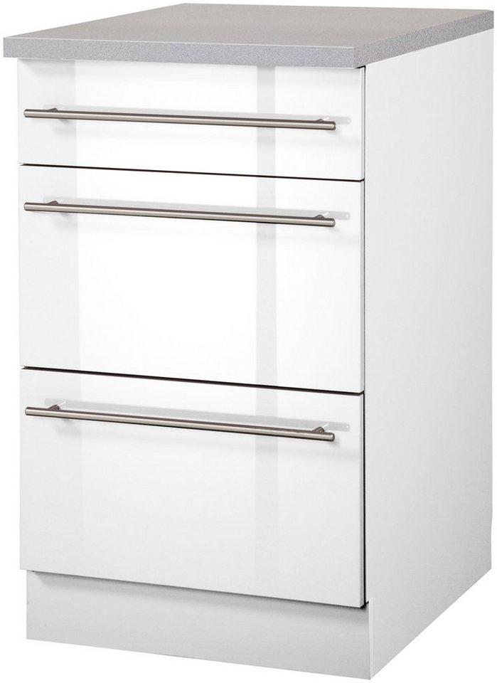 Küchenunterschrank »Chicago, Breite 50 cm« in weiß