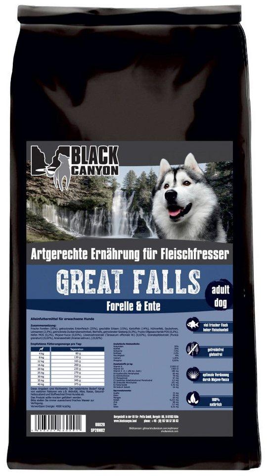 Hundetrockenfutter »Great Falls Ente & Forelle«, 15 kg in braun