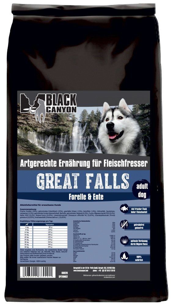Black Canyon Hundetrockenfutter »Great Falls Ente & Forelle«, 1,5 kg