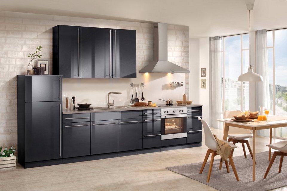 Wiho Küchen Küchenzeile mit E-Geräten »Chicago 340 cm« online kaufen ...