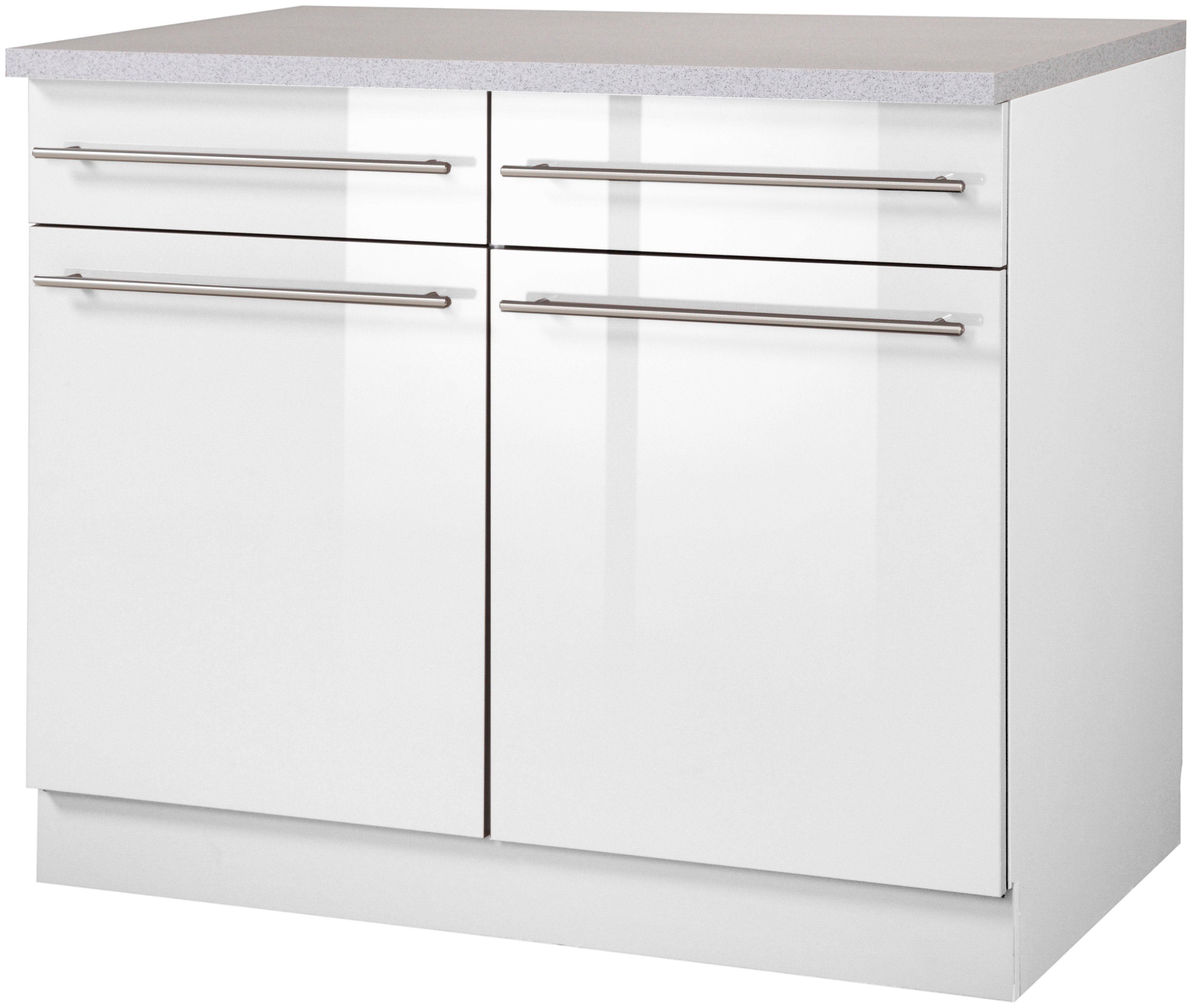 Ordentlich Wiho Küchen Küchenunterschrank »Chicago, Breite 100 cm« online  LW71