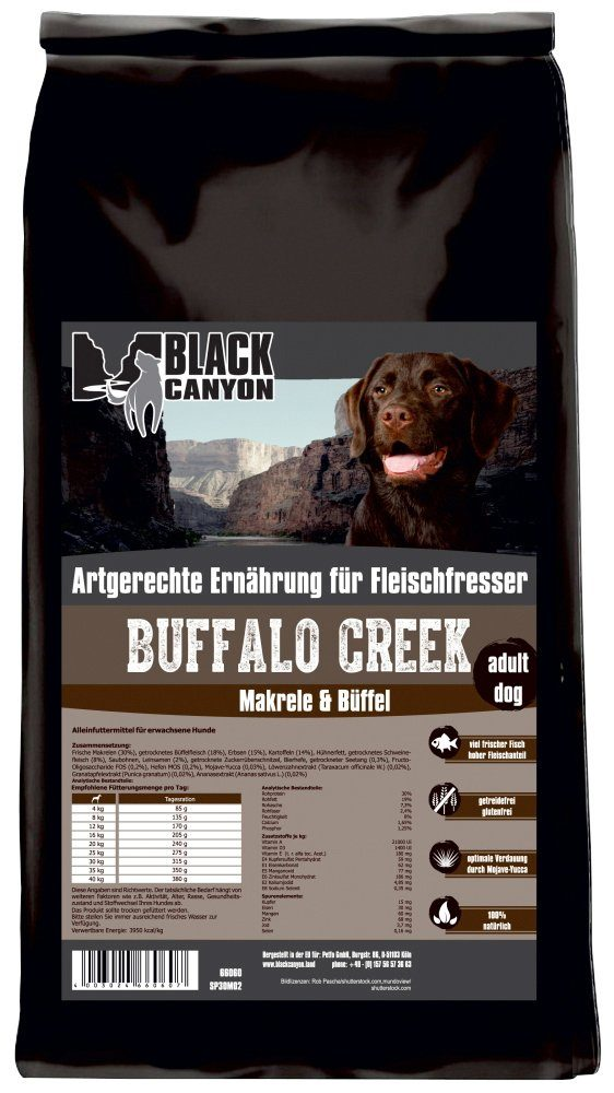 Hundetrockenfutter »Buffalo Creek Büffel & Makrele«, 15 kg