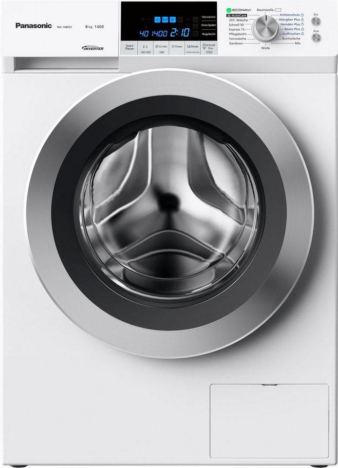 Panasonic Waschmaschine NA-148XS1WDE, A+++, 8 kg, 1400 U/Min in weiß