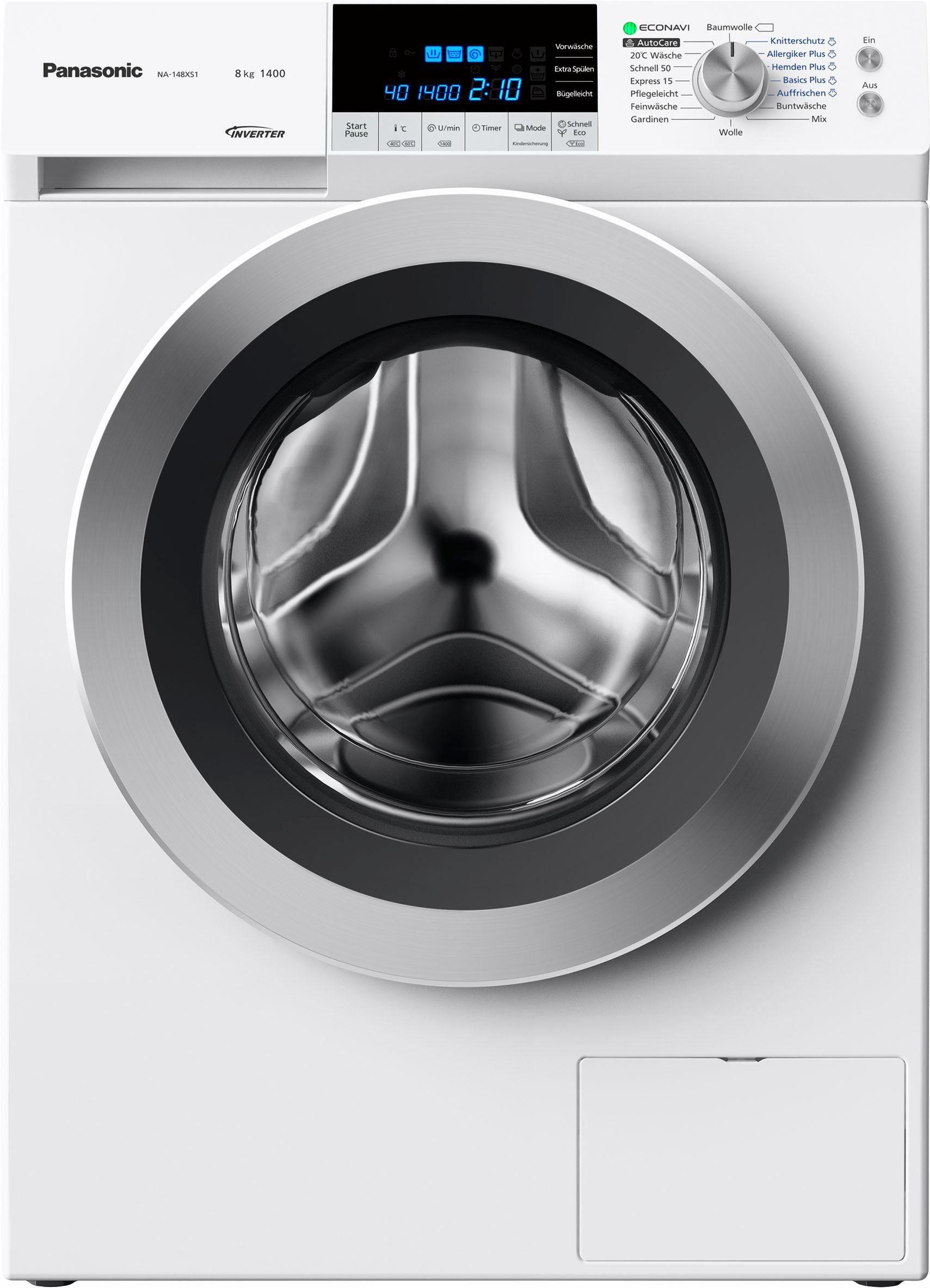 Panasonic Waschmaschine NA-148XS1WDE, A+++, 8 kg, 1400 U/Min