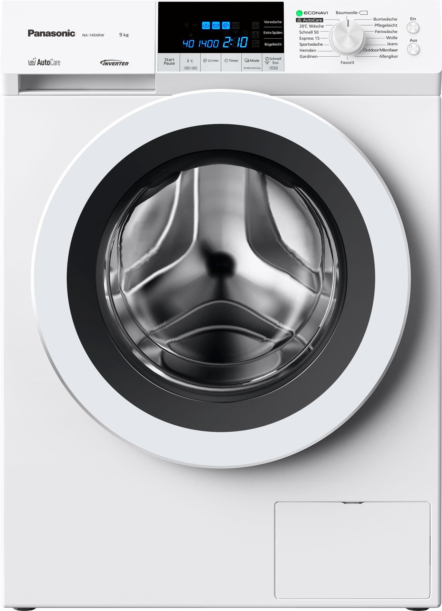 Panasonic Waschmaschine NA-149XRW, 9 kg, 1400 U/Min