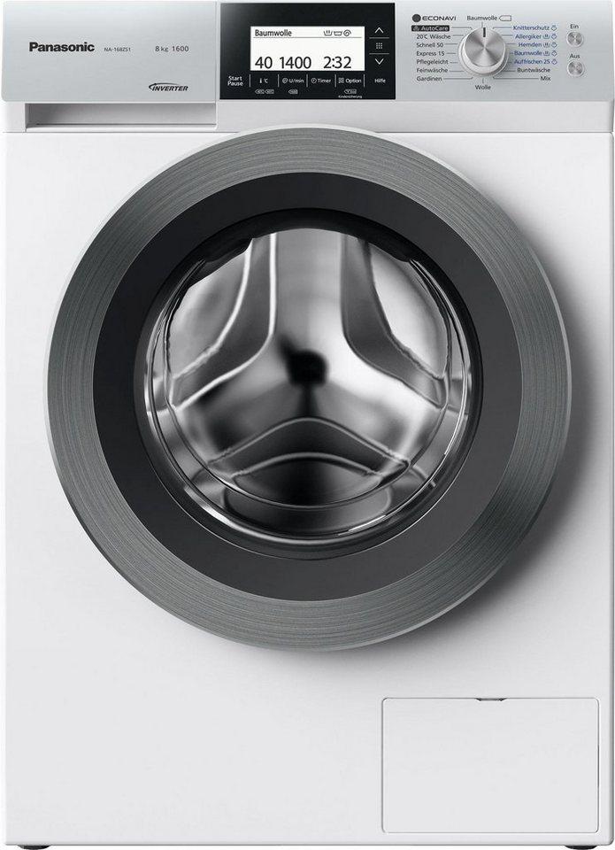 Panasonic Waschmaschine NA-168ZS1WDE, A+++, 8 kg, 1600 U/Min in weiß